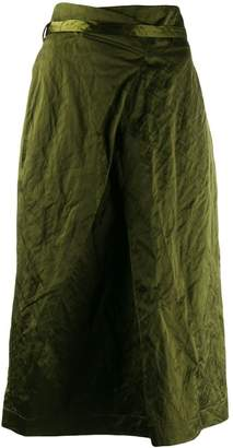 Odeeh asymmetric midi skirt