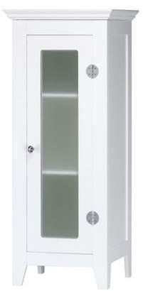 Accent Plus Bathroom Cabinets White, Elegant 3 Tier Wooden Bathroom Floor Cabinet With Door