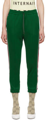 Gucci Green Striped Lounge Pants