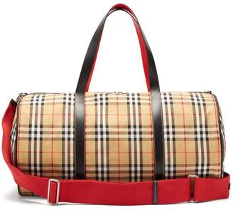 Burberry Vintage Check Leather Weekend Bag - Mens - Beige Multi