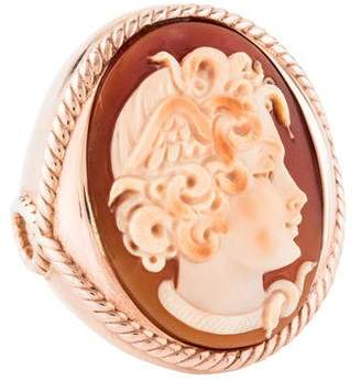 MeDusa Amedeo Shell Cameo Cocktail Ring