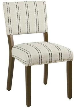 Gracie Oaks Camilo Stripe Upholstered Dining Chair Gracie Oaks