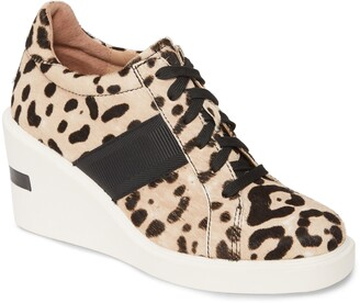 Linea Paolo Kandis Genuine Calf Hair Wedge Sneaker