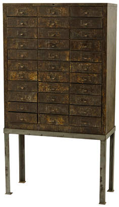 Rejuvenation 33-Drawer Industrial Cabinet w/ Stand