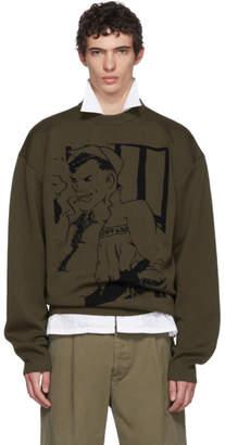 J.W.Anderson Khaki Sailor Sketch Crewneck Sweater