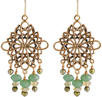 Artsmith BY BARSE Art Smith by BARSE Aventurine & Citrine Chandelier Earrings