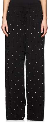 Prabal Gurung Women's Embellished Ribbed Stretch-Jersey Pants