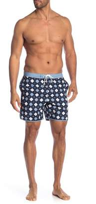 Original Penguin Argyle Dolphin Print Board Shorts