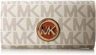 Michael Kors Women's Fulton Carryall Leather Wallet Baguette