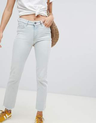 MiH Jeans Daily High Rise Straight Leg Jeans With Raw Hem
