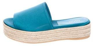 Barneys New York Barney's New York Satin Espadrille Platform Sandals
