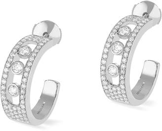 Messika Move Joaillerie Pave Diamond Hoop Earrings