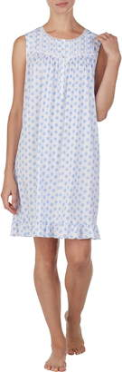 Eileen West Medallion Print Short Cotton Nightgown
