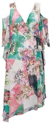 Wallis Blush Oriental Print Wrap Dress