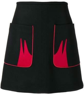 No.21 contrast pocket skirt