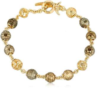 Fu Pyrite Beaded Bracelet