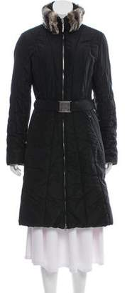 Post Card Fur Collar Coat