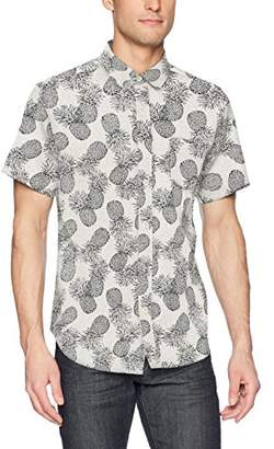 Life After Denim Men's Short Sleeve Slim Fit Pineapple Express Seersucker Shirt