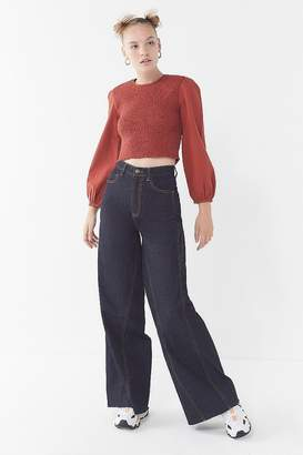 Urban Outfitters Luca Smocked Long Sleeve Top