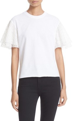 Women's See By Chloe Embellished Sleeve Top $210 thestylecure.com