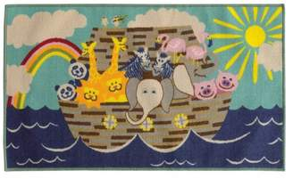 Newcastle Home Jubliee Children's Ark Animals Blue and Gray Rug
