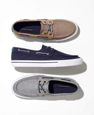 Tommy Hilfiger Men's Phinx Canvas Boat Shoes, Created for Macy's Men's Shoes