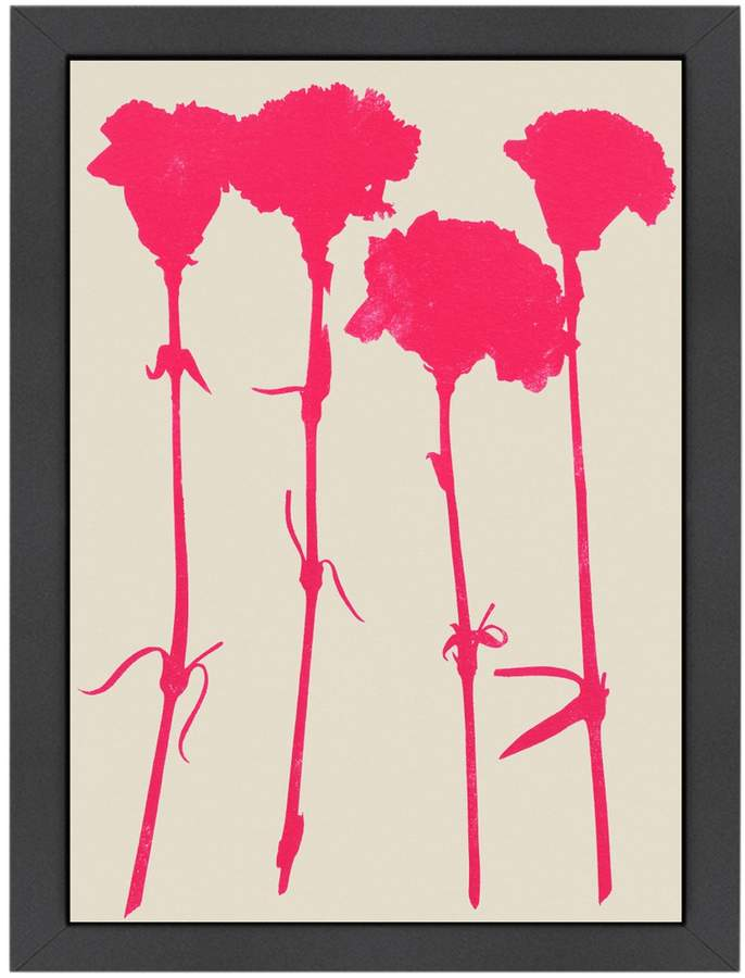 Americanflat Carnations 2 by Garima Dhawan (Framed Giclee)