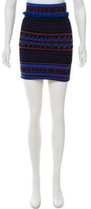 Ronny Kobo Patterned Mini Skirt w/ Tags
