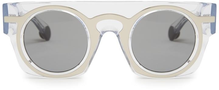 Christopher KaneCHRISTOPHER KANE Flat-top layered acetate sunglasses