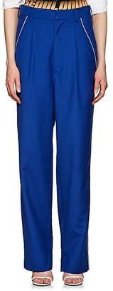 D-ANTIDOTE Women's Wool-Blend High-Rise Baggy Trousers