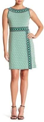 Max Studio Border Print Jersey Dress