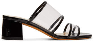 Maryam Nassir Zadeh Black and Transparent Martina Slide Sandals