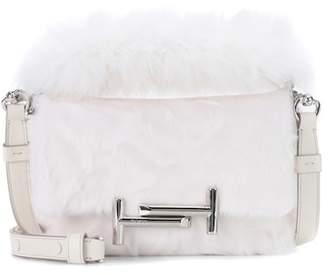 Tod's Double T Mini fur shoulder bag