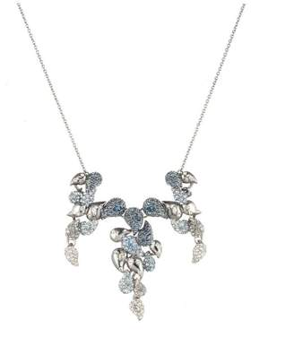 Alexis Bittar Crystal Encrusted Ombre Paisley Articulated Bib Necklace