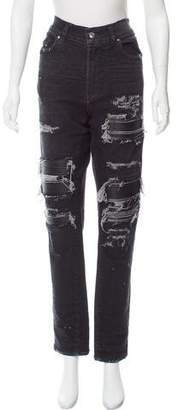 Amiri High-Rise Distressed Jeans
