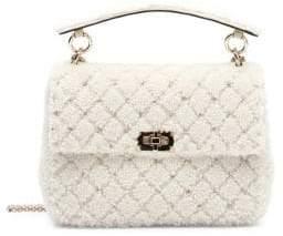 Valentino Rockstud Shearling Flap Bag