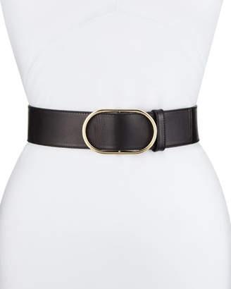 Frame Oval Ring Leather Belt