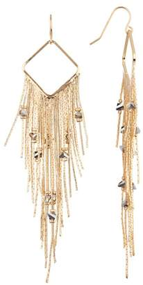 Black Diamond ACCESSORIES Beaded Fringe Dangle Earrings