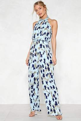 Nasty Gal Field of Flowers Halter Jumpsuit