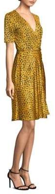 Diane von Furstenberg Flared Floral Wrap Dress