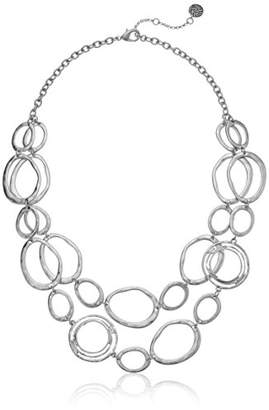 The Sak Women's Link Double Layer Necklace