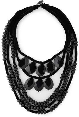 Tory Burch Velvet Bead Necklace