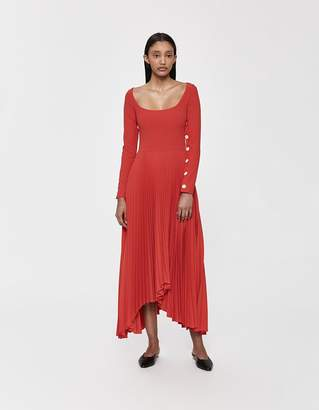 Awake Scoop Neck Pleated Dress