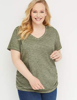Lane Bryant Side-Ruched Tee