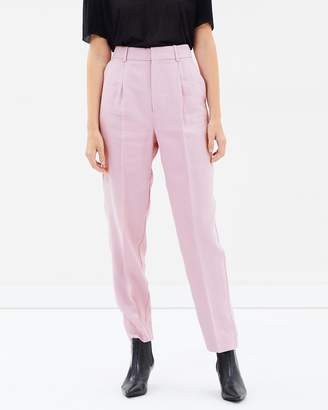 Mng Linen High-Waist Trousers