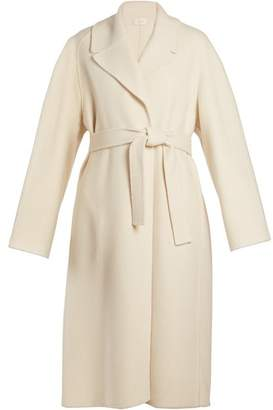 The Row Mesly Tie Waist Double Faced Wool Coat - Womens - Cream
