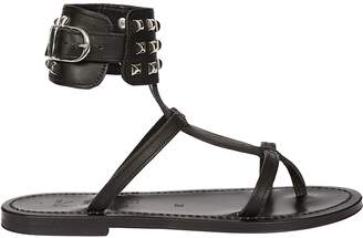 K. Jacques Studded Ankle Sandals