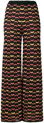 M Missoni patterned flared trousers