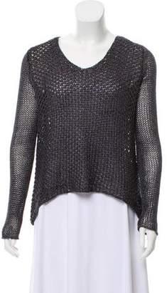 Helmut Lang Open Knit Linen Sweater