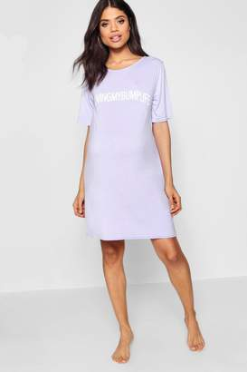 boohoo Maternity Living My Bump Life Nightie